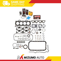 Full Gasket Set Bearings Rings Fit 88-91 Honda CRX Civic 1.6 SOHC D16A6