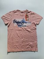 Pepe Jeans London T-shirt Unisex XS S M L XL Pink Island Style GOLDERS Casual