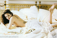 """ANGELINA JOLIE """"LAYING BARE BACK SHOWING HER TATTOOS"""" POSTER FROM ASIA-Sexy Hot!"""