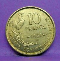 10 francs guiraud 1951 B - SUP - pièce de monnaie française - N15647