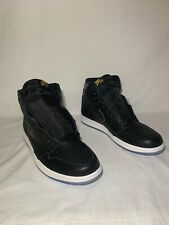"Air Jordan 1 ""City Of Flight"" Men's Size 10.5 BLACK/METALLIC GOLD 555088 031"