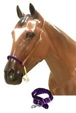 Showman PURPLE Braided Nylon Rope Noseband & Nylon Tie Down!! NEW HORSE TACK!!