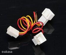 Akasa 3 pin femmina a 2 x 3 Pin Maschio Fan Splitter Cable