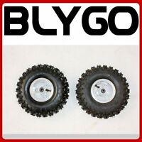 "2X 4.10 - 4 4"" Inch Wheel Rim Tyre Tire 47cc 49cc Mini Quad Dirt Bike ATV Buggy"