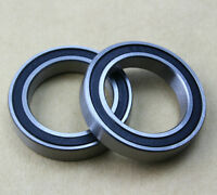 2X 6802 S6802 2RS Si3N4  Bicycle Ceramic Ball Bearing Rubber Sealed 15x24x5mm