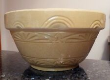 """Vintage Stoneware bowl, sand color, large and heavy 12"""""""
