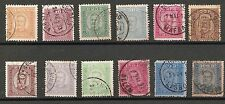 PORTUGAL-D.CARLOS-1892/3-Complete set-12 used stamps-Y&T-66 to 77-Afinsa-68 a 79
