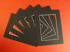 100 BLACK PICTURE MOUNTS 16 x 16'' FOR 12 x 12'' (100M/1616/Bl)