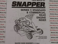 06083 Snapper Series 7 Rear Engine Rider Standard & Commercial Parts Manual