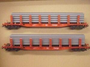 Märklin HO Rungenwagen mit Röhrenstapel aus 29646