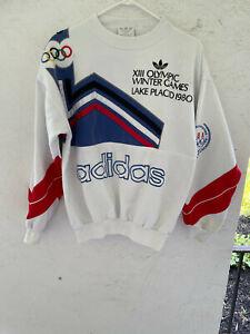 Vintage Adidas Olympic Sweat shirt, Lake Placid, size L/Xl