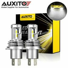 2x AUXITO H4 9003 200W LED Headlight Bulbs High Low Beam 12000LM 6000K White