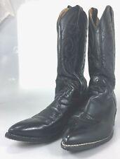 Acme Mens 12 D Black Leather Cowboy Western Boots
