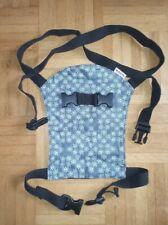 Puppentrage Bauchtrage Rückentrage für Puppen von BECO blau mit Tasche