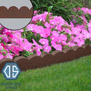 Primeur Terracotta Flexi Curve Edging Lawn Scallop Curve Border Garden 1.2 Metre