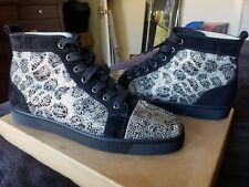 CHRISTIAN LOUBOUTIN LOUIS FLAT STRASS SZ 40.5/7.5 100% AUTHENTIC