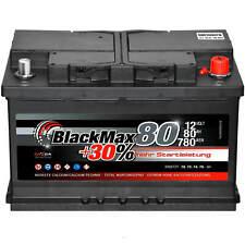 Autobatterie 12V 80Ah BlackMax Starterbatterie ersetzt 70Ah 72Ah 74Ah 75Ah 77Ah