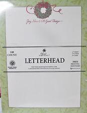 Christmas Wreath Joy Peace Letterhead - 8.5x11 injet copier laser 100 Sheets NEW
