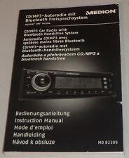 Betriebsanleitung Medion CD/MP3 Autoradio MD 82309 Stand 07/2009