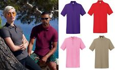 Fruit of the Loom mens Premium short sleeved Cotton Polo T Shirts UK Sizes S-3XL