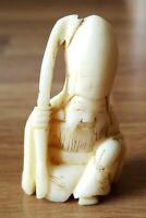 Japanese carved treen vintage Victorian Meiji Period oriental antique figurine