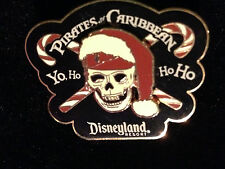 Disney DLR Pirates of the Caribbean Christmas Candy Canes Yo, Ho Ho Ho 3D Pin