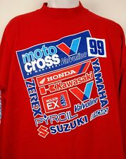 Vintage Valvoline Motocross Racing T Shirt Montreal 1999 Long Sleeve 2XL Red USA