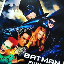 Batman Forever Poster Signed By Val Kilmer With And Beckett Authentication