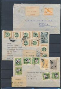 XC59431 Uruguay airmail covers with nice cancels used
