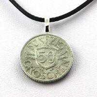 Collier pièce de monnaie Autriche 50 groschen