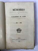 Académie du Gard - Mémoires de l'Académie du Gard - 1852