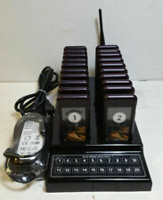 Wireless Queue Number Meal Pager 1 to 20 Service Food Taking Calling System 20Ch