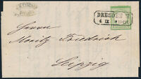 DR 1872, MiNr. 17 a, Einzelfrankatur auf Drucksache, gepr. Krug, Mi. 60,-