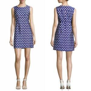 NEW DVF Diane Von Furstenberg BLUE & WHITE Carrie HEXAGON Dot SHEATH DRESS 2