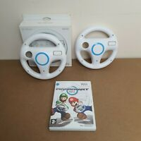 Mario Kart Wii for Nintendo Wii with 2 Official Wheels