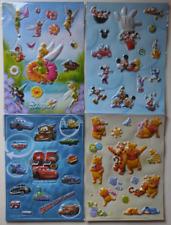 Disney Set of 4 Sticker Sheet Tinker Bell/Mickey&Friends/C ars & Winnie The Pooh
