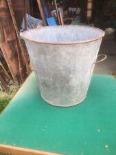 bassine en zinc ancienne étanche - 45 cm - ideal jardinière- deco jardin -  Z6