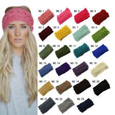 Knitted Turban Headbands Warm Crochet Head Wrap Wide Ear Hairband For Women AU