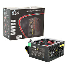 ACE 850W Nero Gaming PC PSU POWER SUPPLY 6 Pin PCI-E 120 mm rosso Ventola di raffreddamento