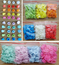 KAM snaps 150 Sets mix colors T5 Plastic heart-shaded Snap Fasteners Buttons