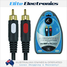 ETHEREAL EHT702 2M PAIR AUDIO VIDEO RCA INTERCONNECT CABLE STEREO LEAD HOME CAR