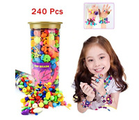240PCS Pop Beads Snap Beads DIY Jewelry Making Kit, Fashion Kit Jewelry For Kids