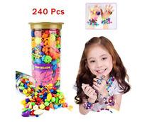240PCS Pop Beads Snap Beads DIY Jewelry Making Kit, Fashion Kit Jewelry For Kids