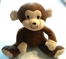 "Curious George Plush 15"" stuffed toy monkey brown fuzzy vintage"