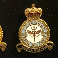 RAF Royal Air Force Enamel Badge 360 Squadron Electronic Countermeasures