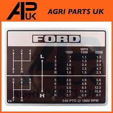 Ford New Holland 2000 2600 3000 3600 4000 4100 4600 Tractor Shift Pattern Decal