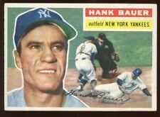 1956 Topps Baseball Card #177 Hank Bauer WC New York Yankees EXMT+