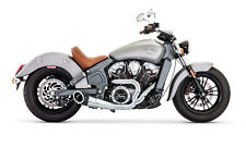"FP Exhaust Indian Scout'15up Turnout 2:1 Chrome w/Black Tip (4.5"" Body)"