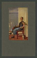 Fritz rait dame du lac chat élégance mode nouvelle sobriété PEINTURE ART 1925