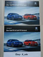 VW Golf R Broschüre Volkswagen R Variant